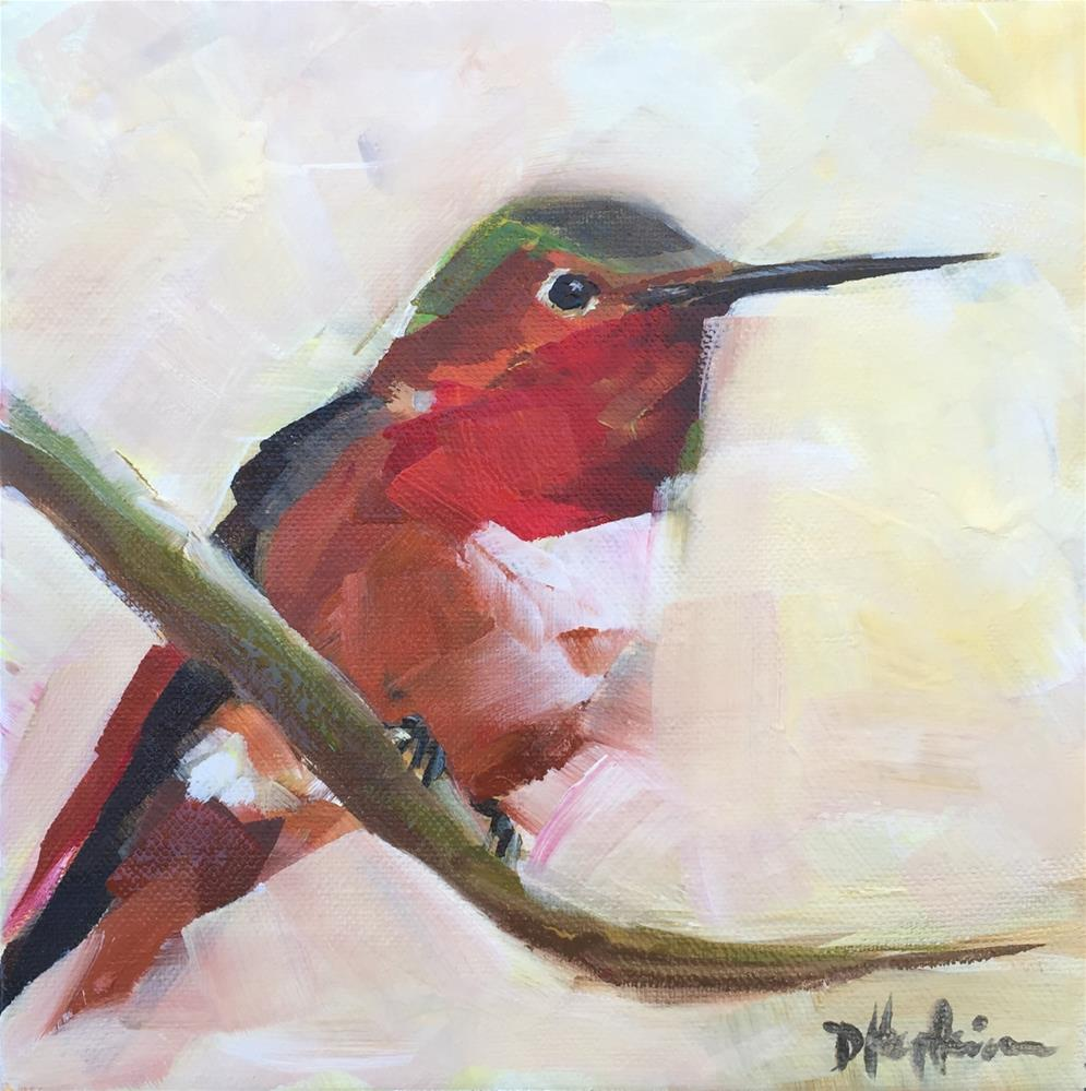 """Humming"" original fine art by Denise Hopkins"