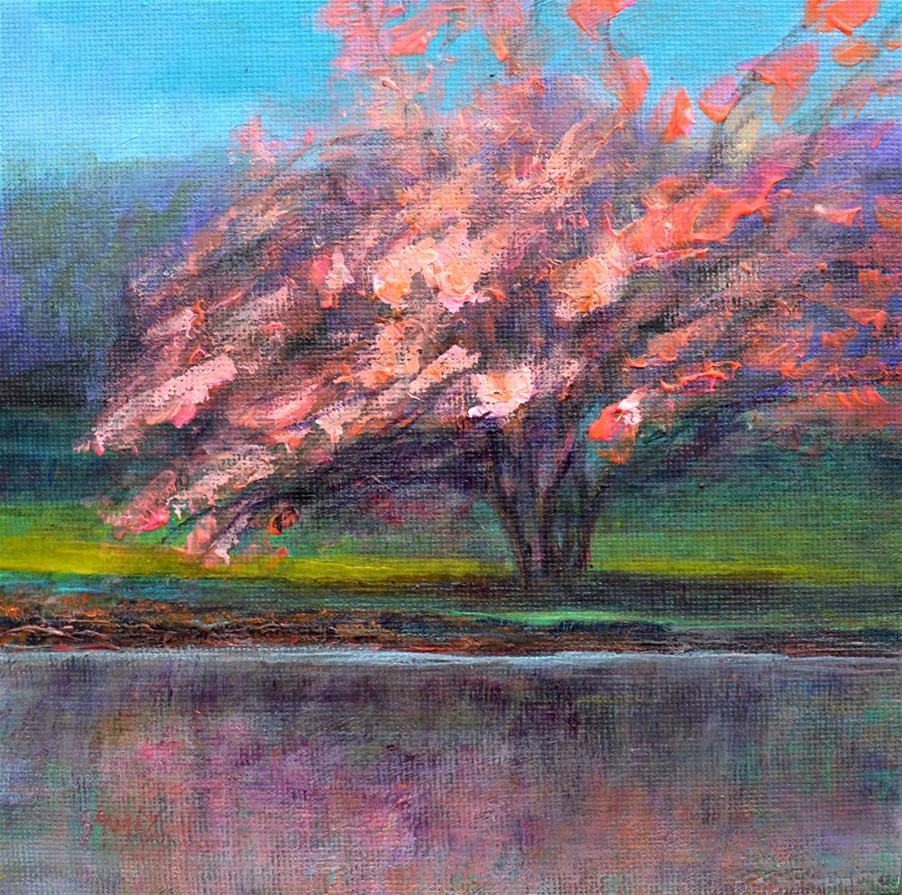 """First flowering"" original fine art by Véronique Saudez"