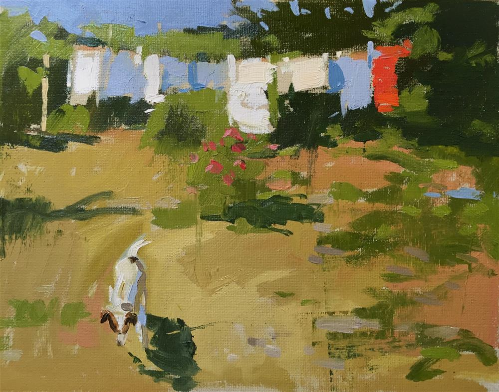"""Freshly laundered"" original fine art by Haidee-Jo Summers ROI"