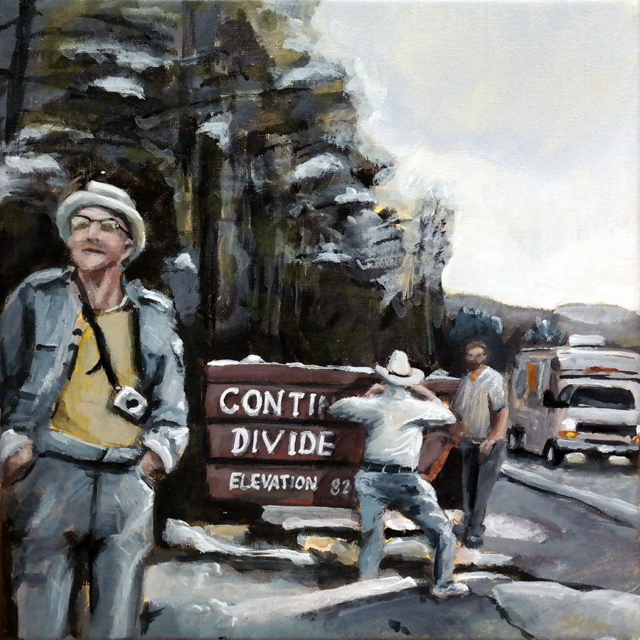 """1286 Continental Divide"" original fine art by Dietmar Stiller"