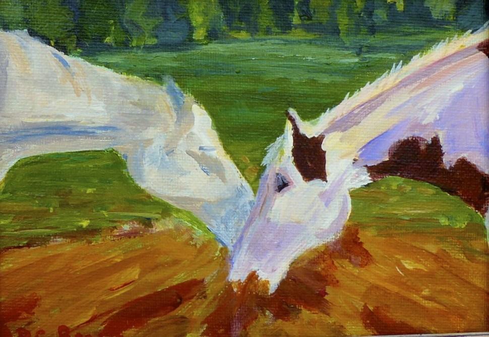 """Buddies"" original fine art by Beth Carrington Brown"