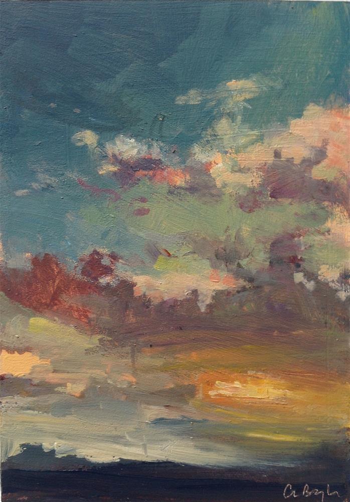"""Evening sky"" original fine art by Christine Bayle"
