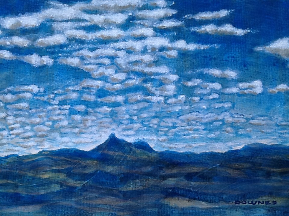 """011 MOUNT WARNING 4"" original fine art by Trevor Downes"