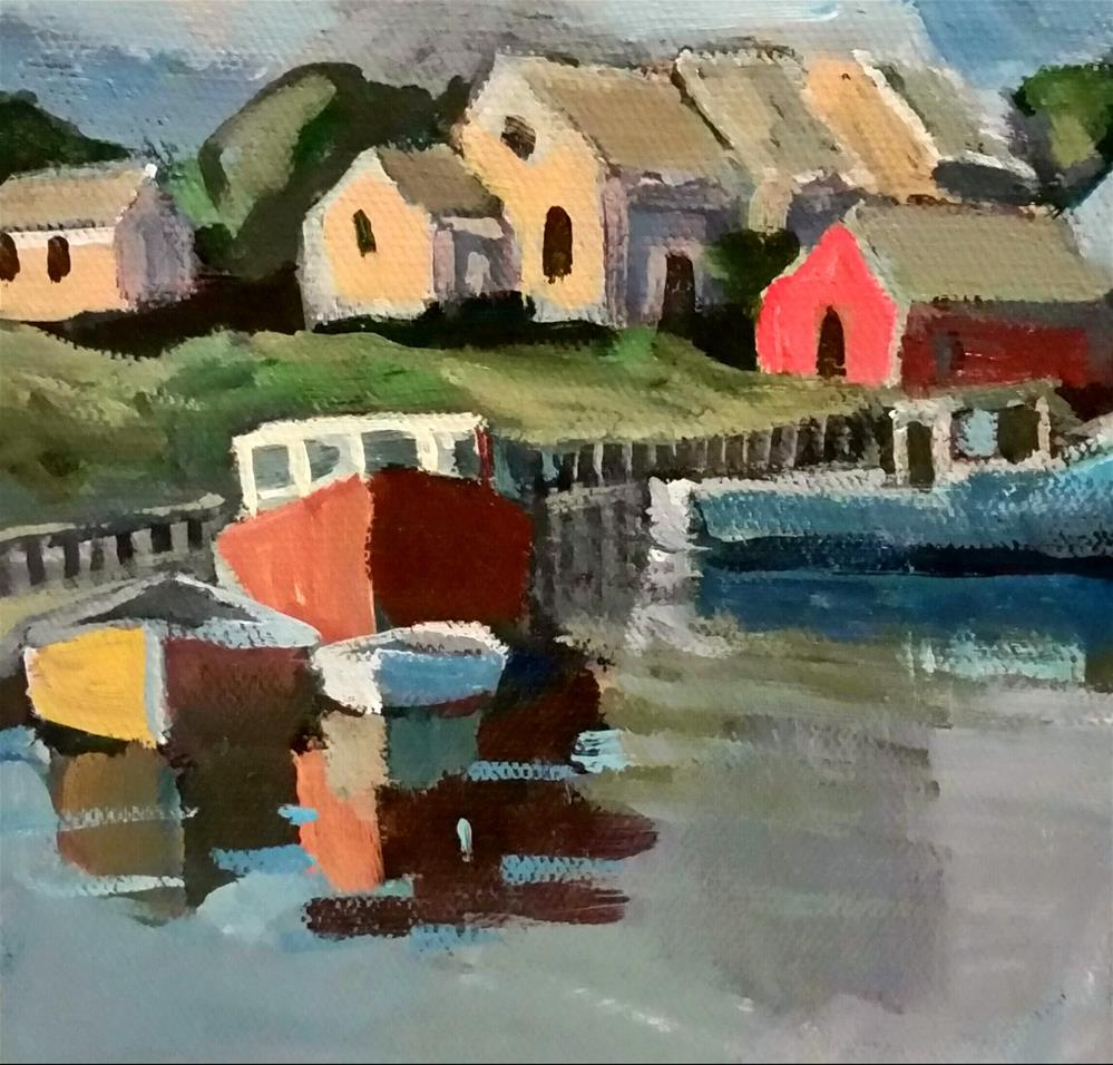 """Peggy's Cove"" original fine art by Liz Maynes"