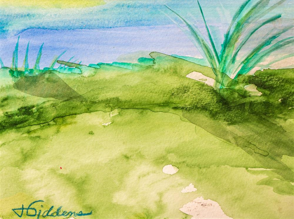 """It's all Green to Me."" original fine art by Jeri Giddens"