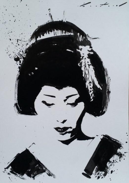 """Fumino"" original fine art by Phil Couture"