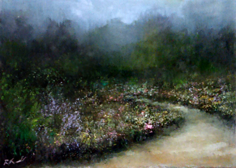 """The Path"" original fine art by Bob Kimball"