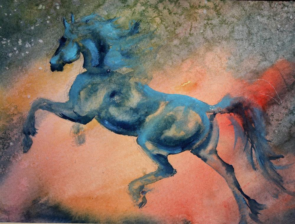 """Charged up"" original fine art by Colleen Drury"