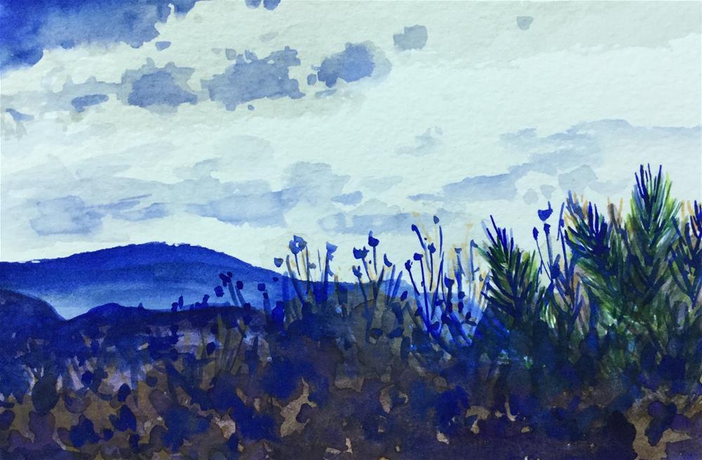 """6084 - Blue Hills"" original fine art by Sea Dean"