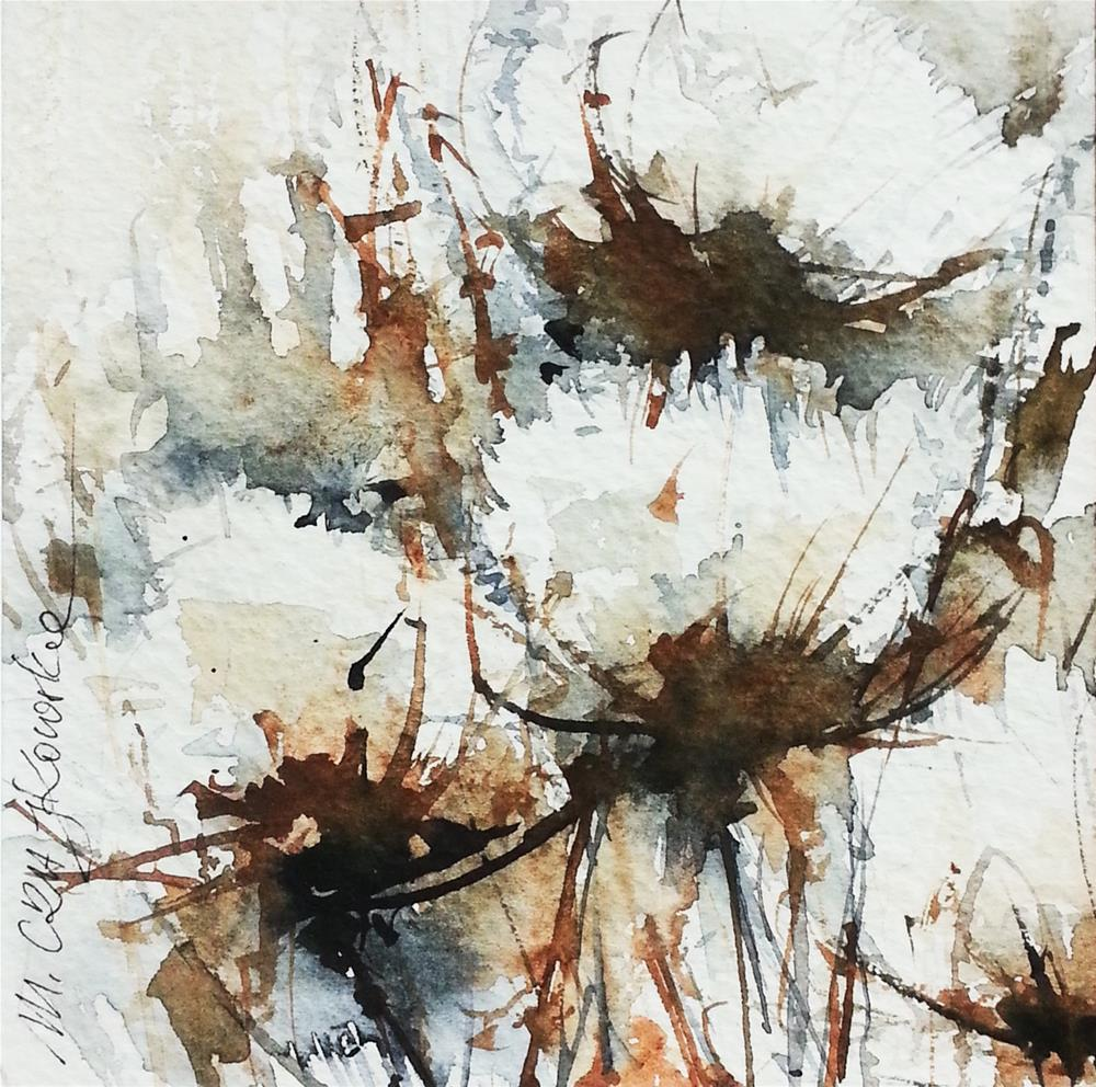 """Thistles"" original fine art by Marlena Czajkowska"
