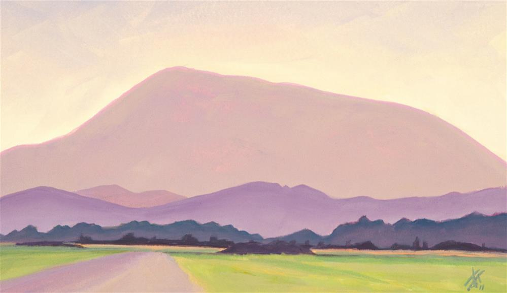 """Mary's Peak"" original fine art by Mark Allison"