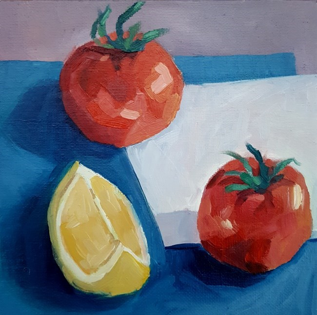 """Tomato Red"" original fine art by J M Needham"