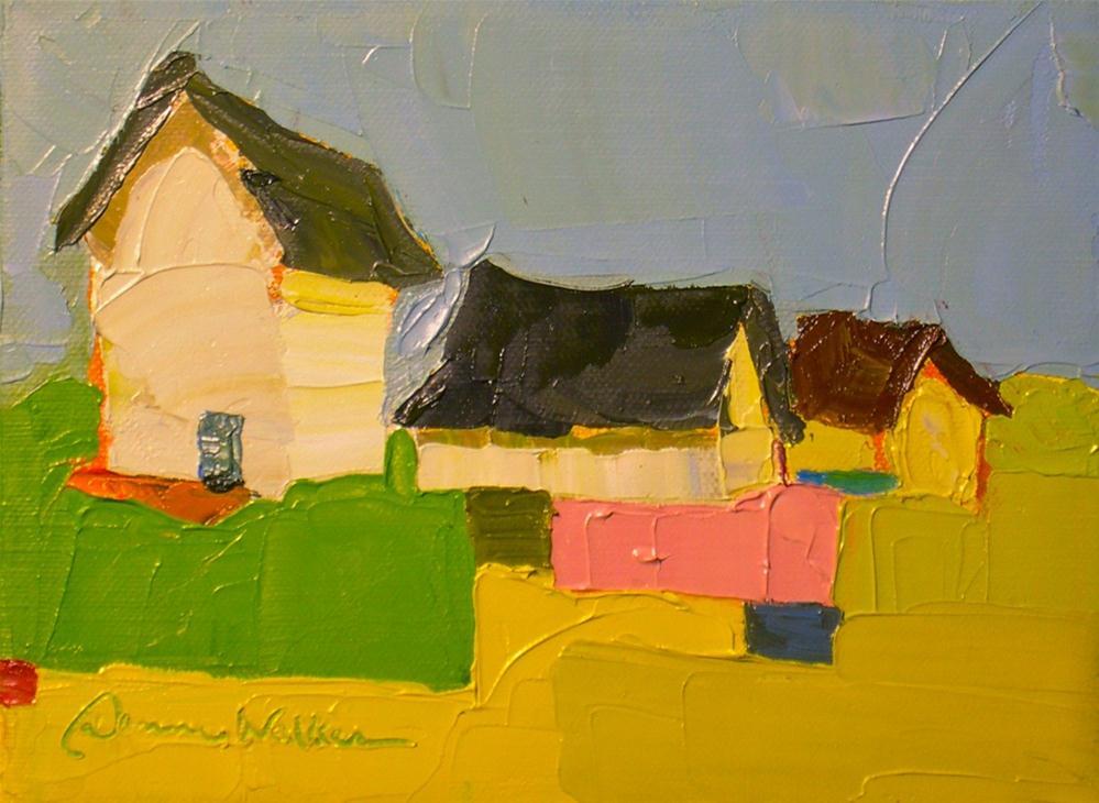 """Patch of Green"" original fine art by Donna Walker"