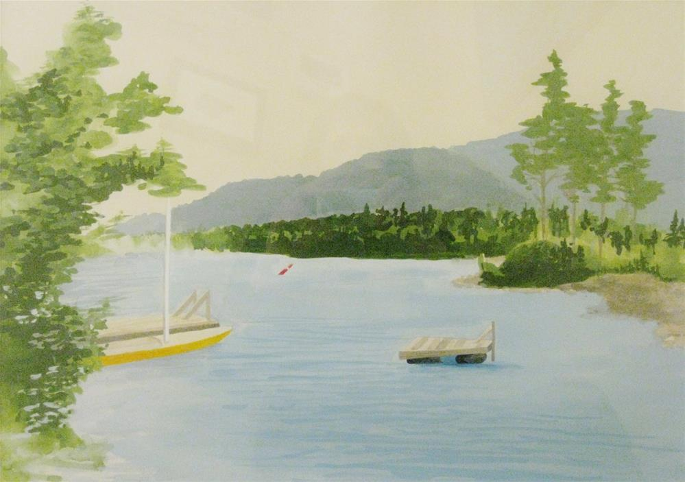 """Squam Lake"" original fine art by Priscilla Bohlen"