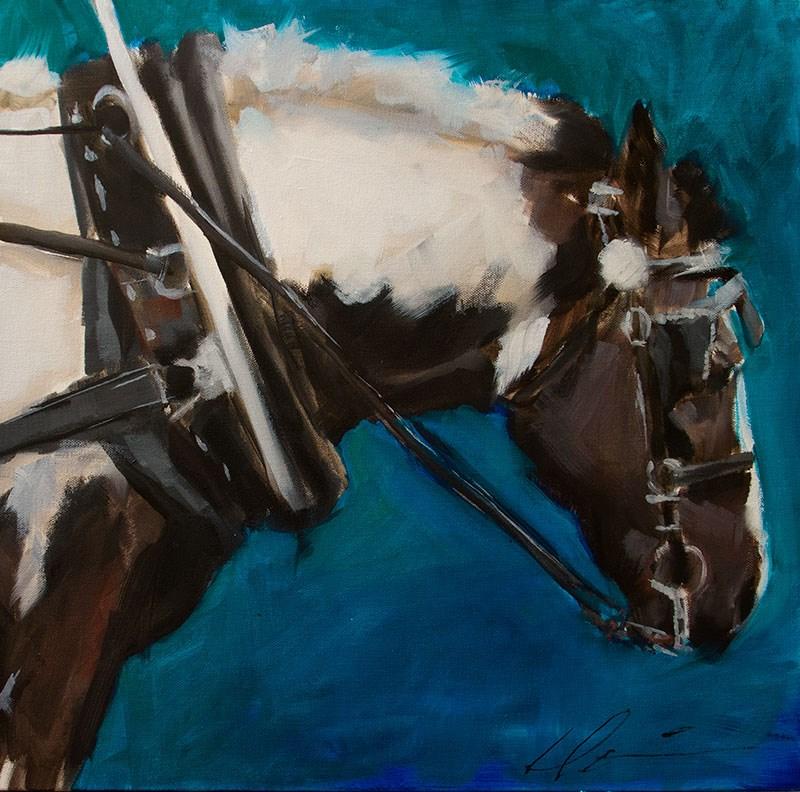 """""""Charleston Carriage Horse"""" original fine art by Clair Hartmann"""