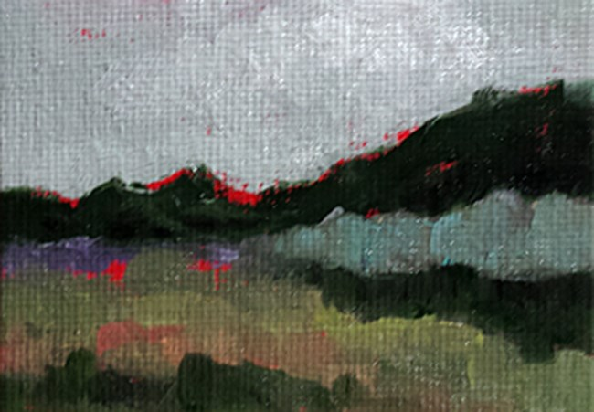 """Abstract Landscape - Field"" original fine art by Cindy Haase"