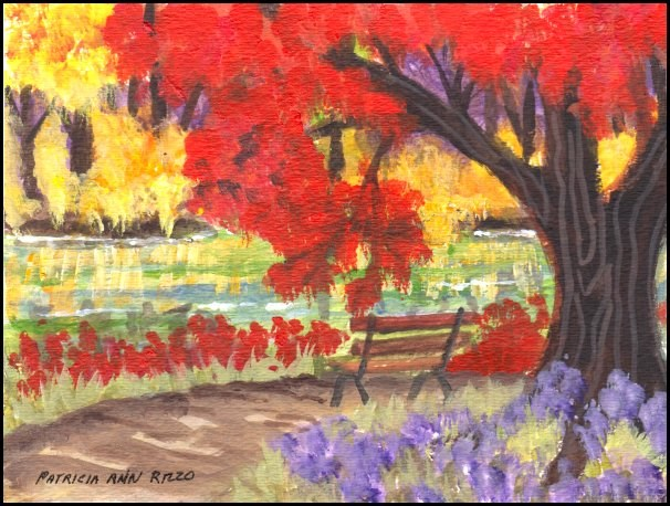 """Autumn Challenge"" original fine art by Patricia Ann Rizzo"