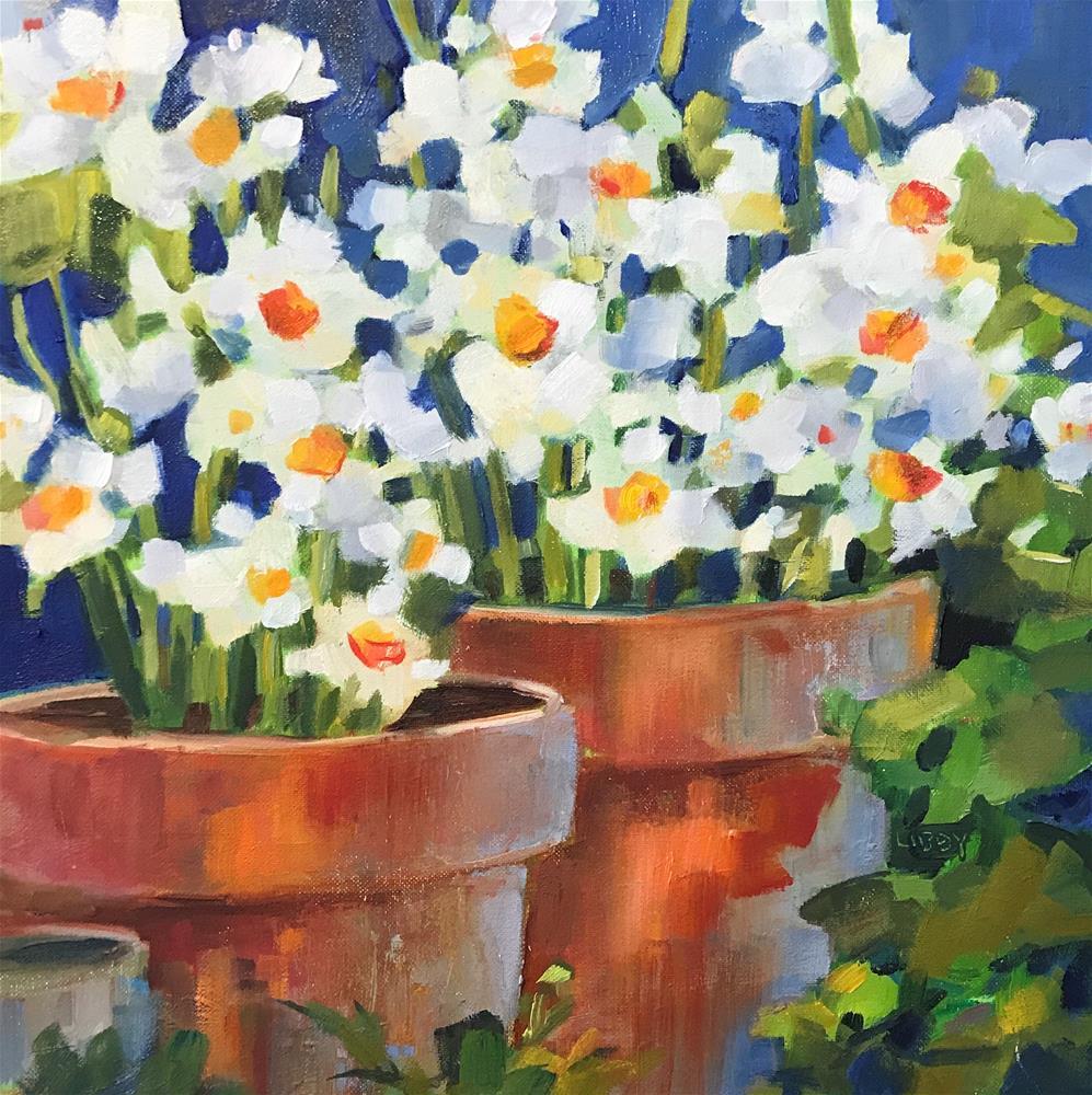 """Garden Life"" original fine art by Libby Anderson"