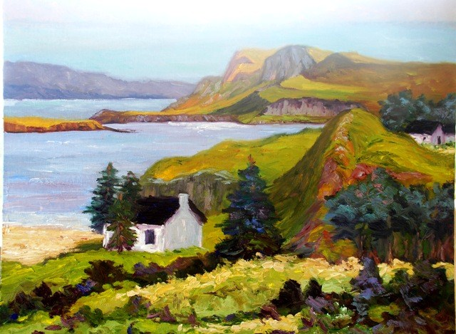 """Loch on Isle of Skye"" original fine art by Liz Zornes"
