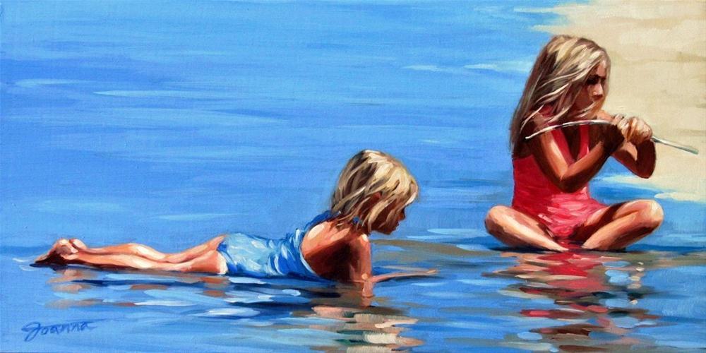 """Little B.F.F."" original fine art by Joanna Bingham"