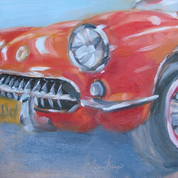 """It's Red! - 381"" original fine art by Laura  Buxo"