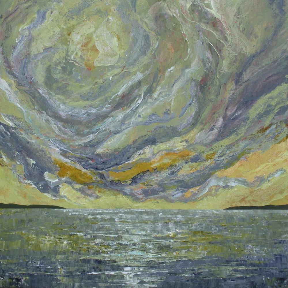 """Sun on the Water"" original fine art by Sage Mountain"