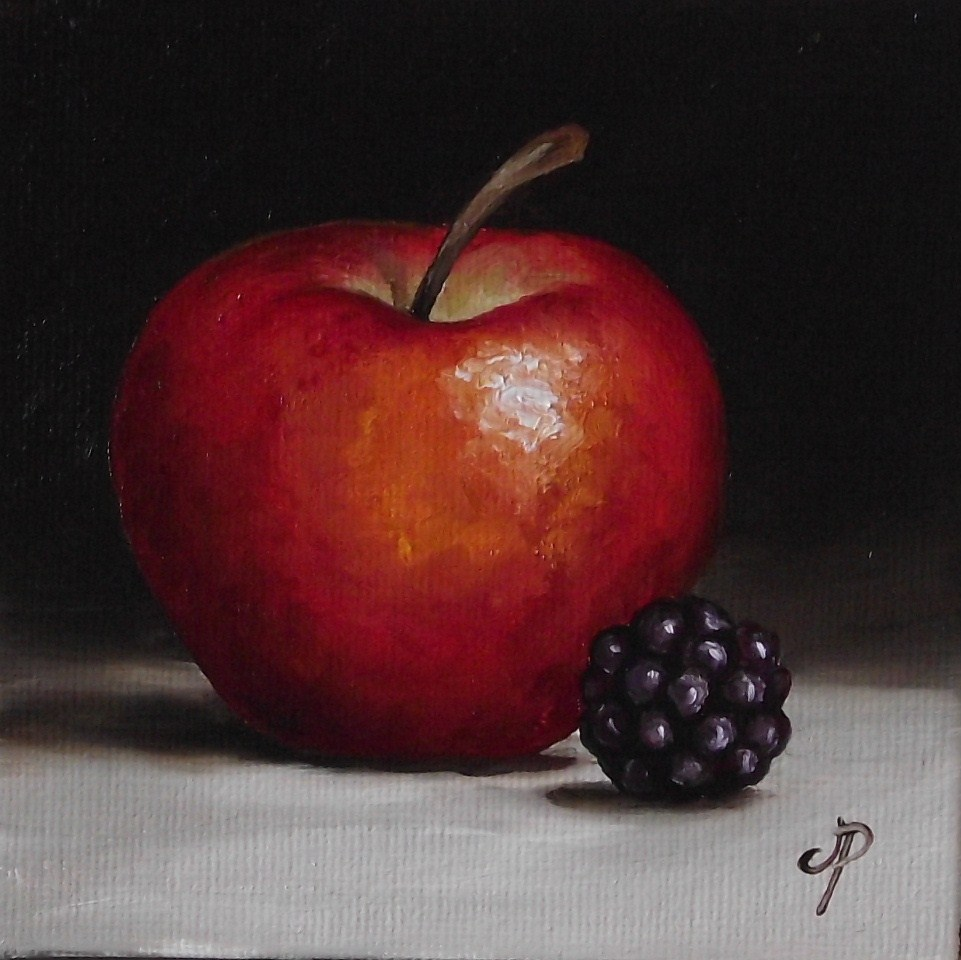 """Apple and Blackberry"" original fine art by Jane Palmer"