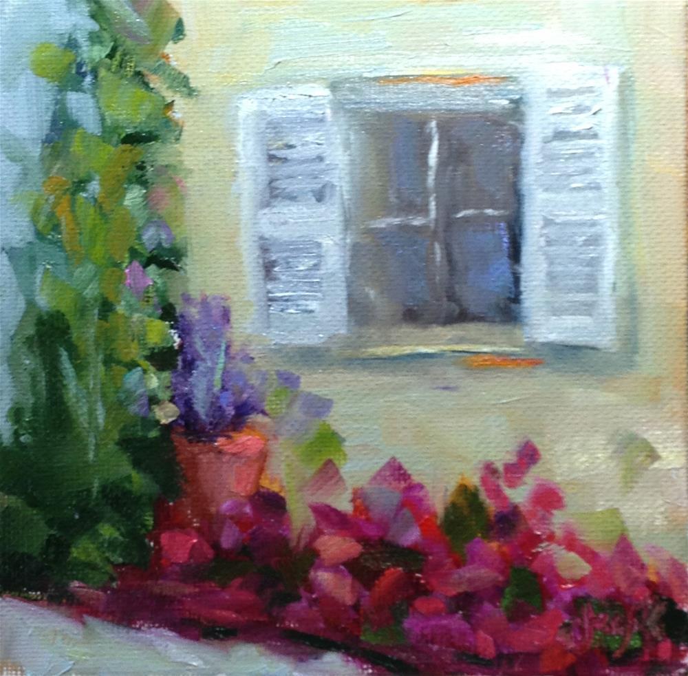 """City Garden"" original fine art by Carol Josefiak"