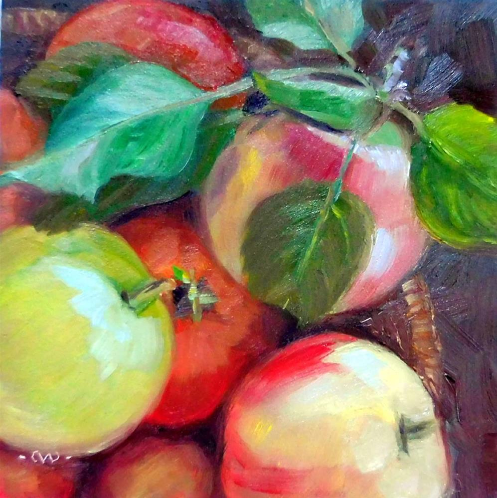 """Apple Harvest"" original fine art by Cietha Wilson"