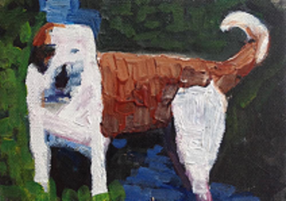 """ROXY"" original fine art by Marie O' Higgins"
