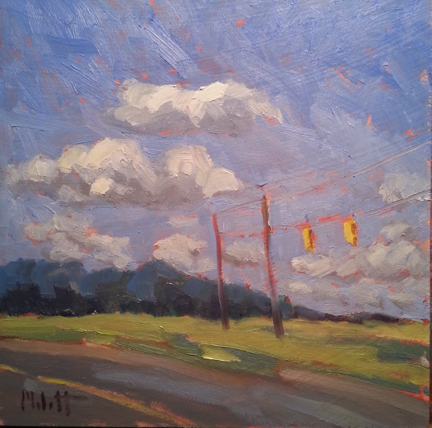 """Contemporary Impressionism Summer Driving"" original fine art by Heidi Malott"