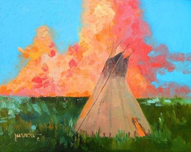 """""""Angry Sky"""" original fine art by Sue Furrow"""