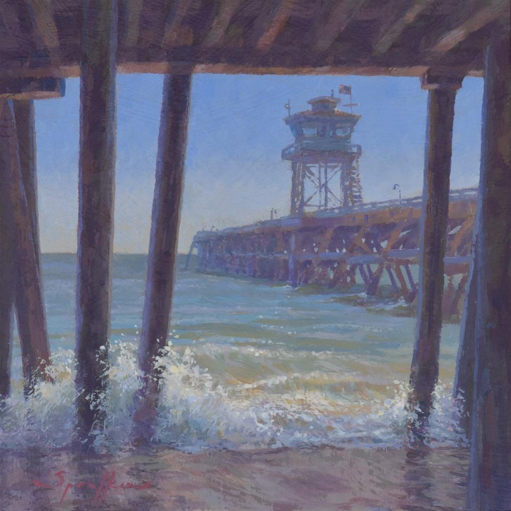 """""""Pier-ing Out"""" original fine art by Edward Sprafkin"""