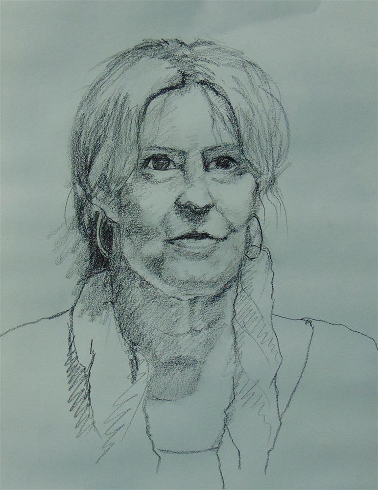 """Carol"" original fine art by Catherine Kauffman"