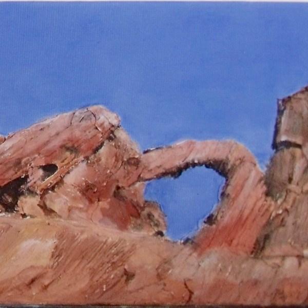 """""""Sky Hole"""" original fine art by Nelvia  McGrath"""