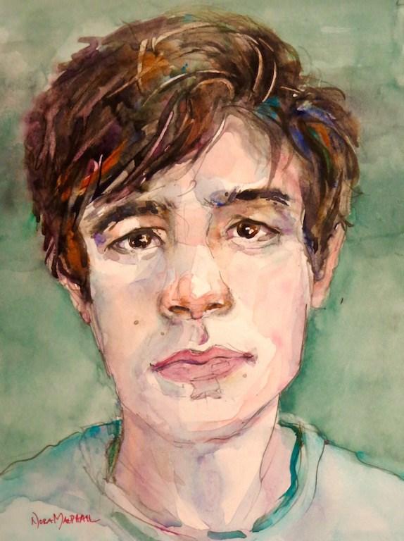 """""""ponder"""" original fine art by Nora MacPhail"""