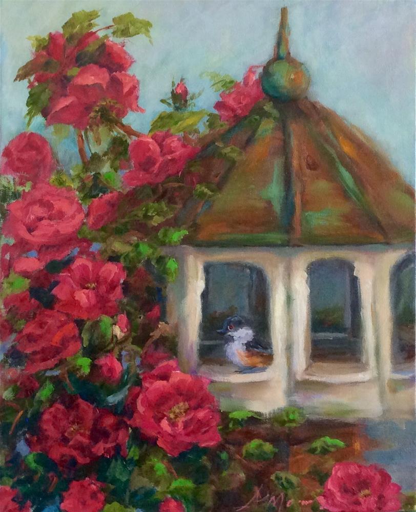 """""""Summer Cottage"""" original fine art by Susie Monzingo"""