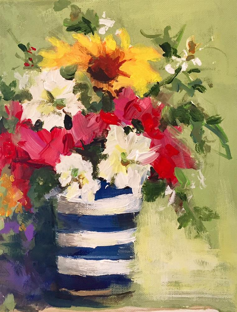 """""""Red, White and Blue"""" original fine art by Marcia Hodges"""