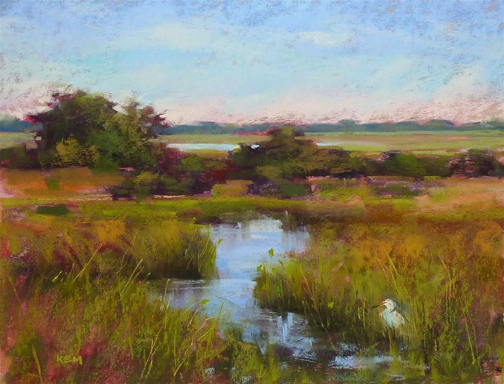 """Making a Marsh Painting Better"" original fine art by Karen Margulis"