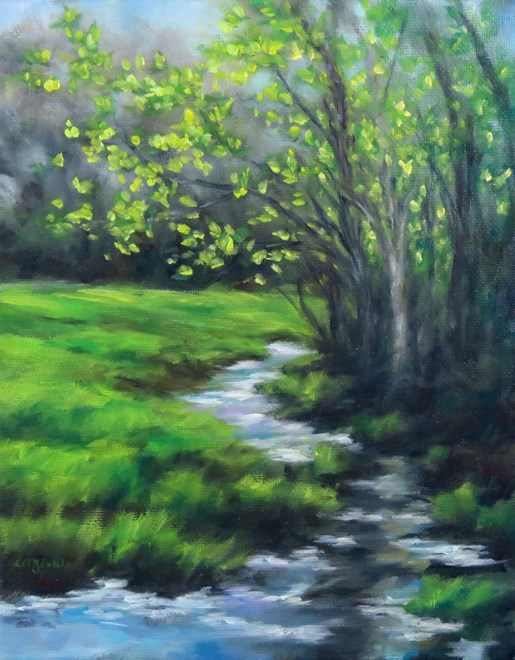 """Spring Brook"" original fine art by Carol Zirkle"