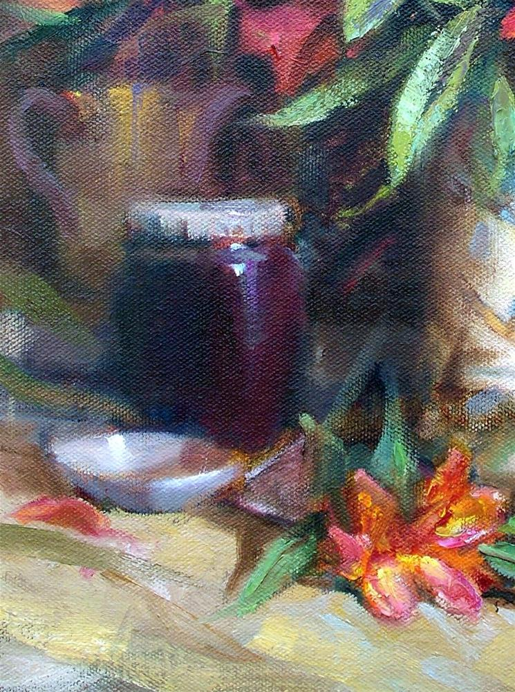 """""""Plum Jam"""" original fine art by Julie Ford Oliver"""