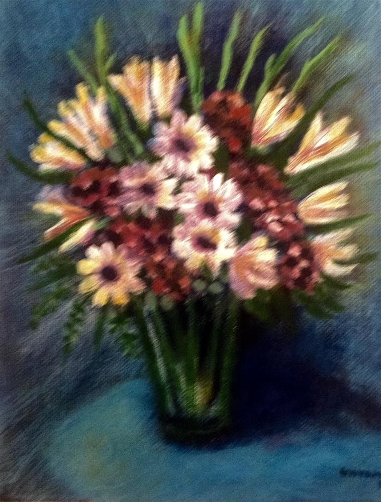 """Flowers Bouquet"" original fine art by Giovanni Antunez"