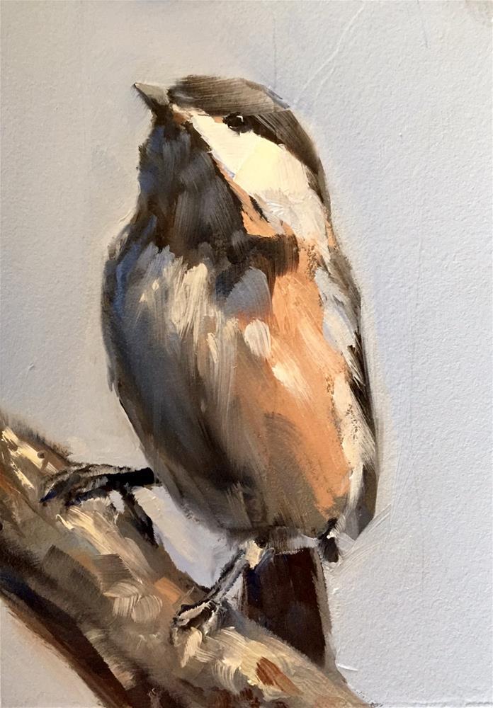 """Chickadee"" original fine art by Gary Bruton"