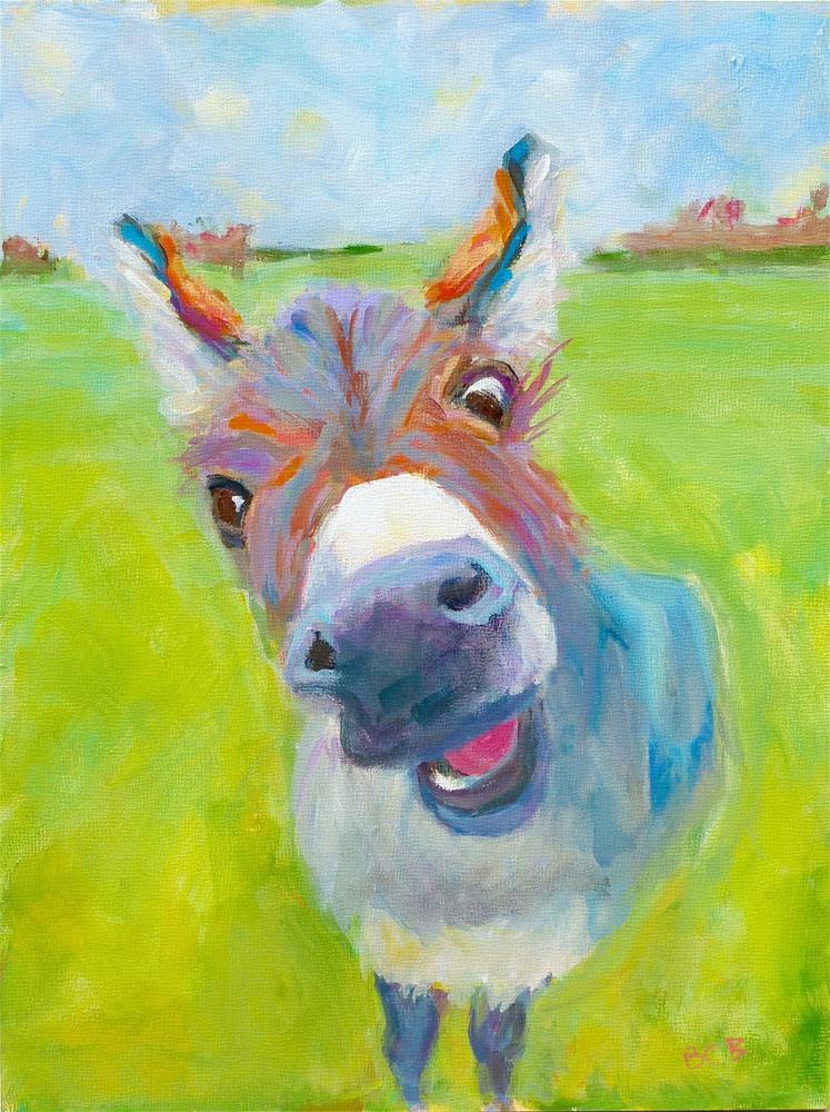 """Hello There"" original fine art by Beth Carrington Brown"