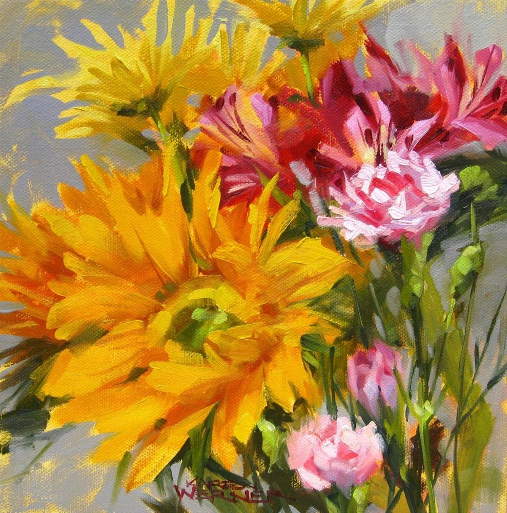 """Flower Happy"" original fine art by Karen Werner"