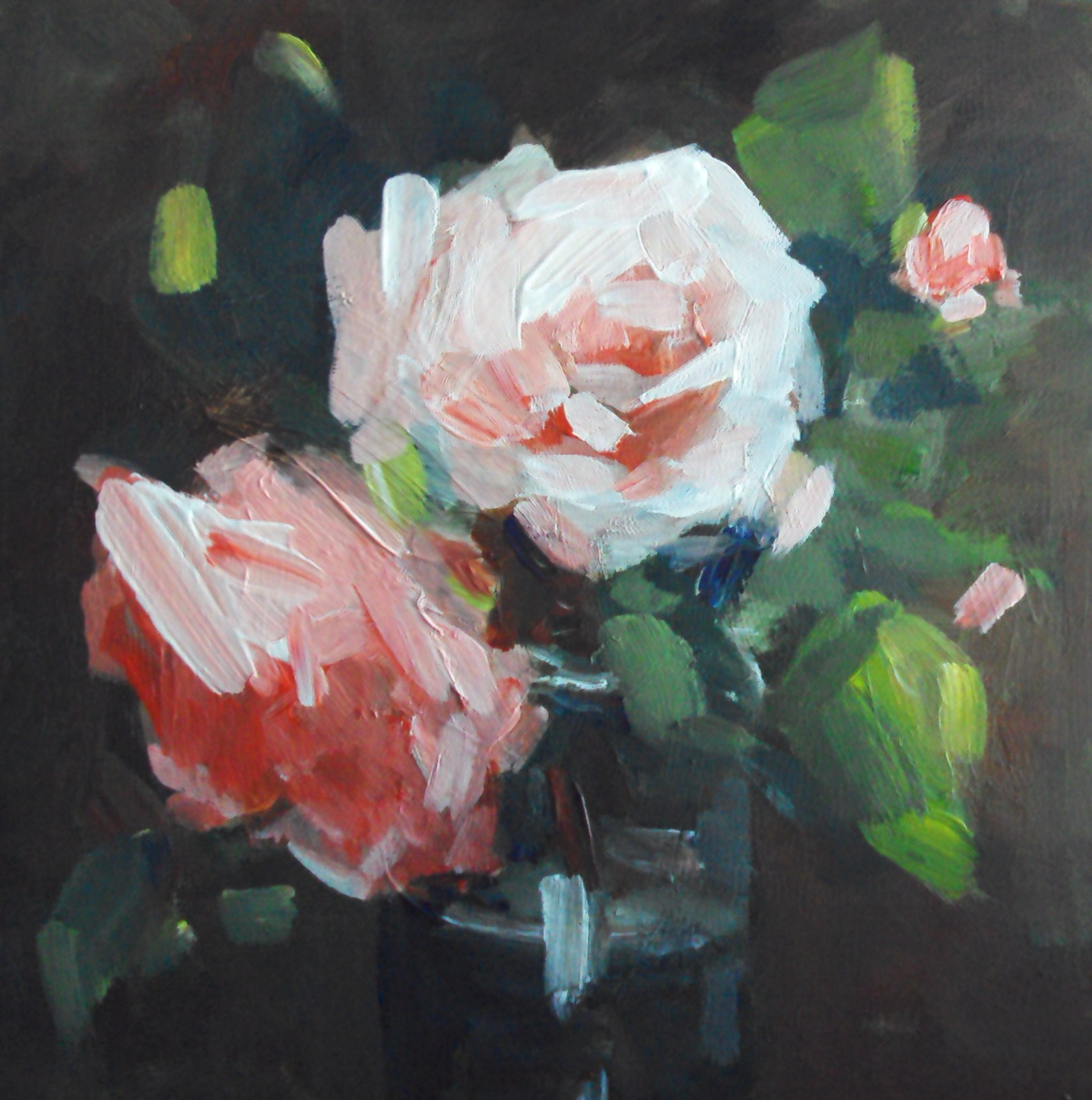"""August rose"" original fine art by Parastoo Ganjei"