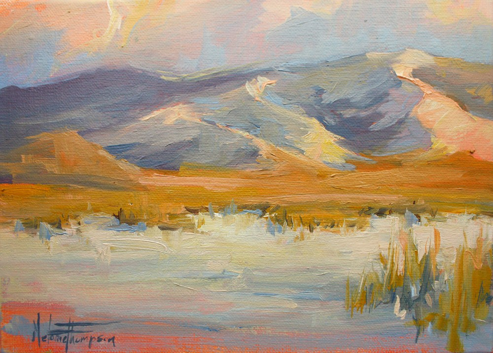 """Pahvant Dusk - Utah Landscape Painting"" original fine art by Melanie Thompson"
