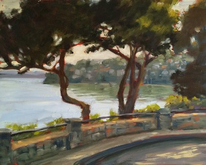 """View of Belvedere"" original fine art by Deborah Newman"