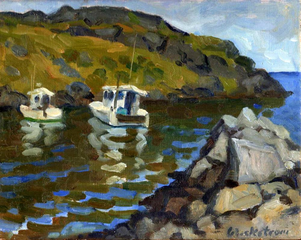 """Morning, Monhegan"" original fine art by Thor Wickstrom"