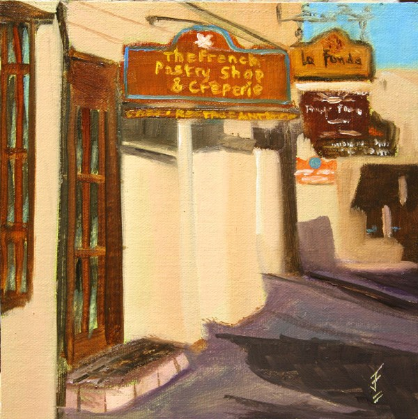 """Favorite Breakfast Place"" original fine art by Jane Frederick"